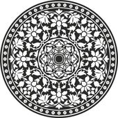 Indian traditional pattern of black and white