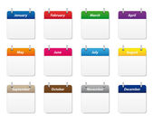 Calendar icons in various colors