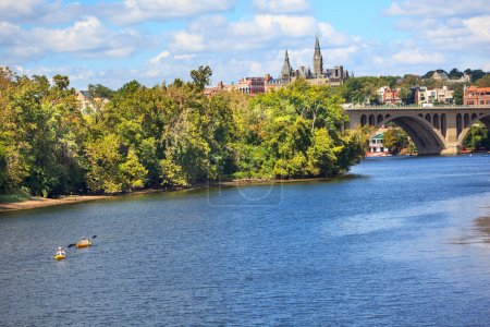 Key Bridge Georgetown University Washington DC Potomac River