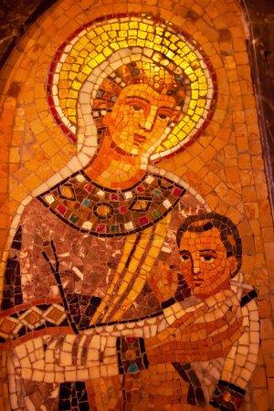 Madonna Mary Jesus Mosaic Monastery Montserrat
