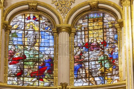 Ascension Last Supper Stained Glass Basilica Cathedral Andalusia