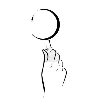 Illustration pour Loupe à main Symbole simple - image libre de droit