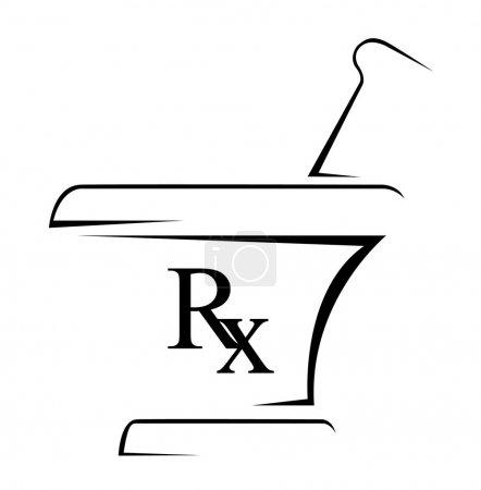 Illustration for Medical Rx Simple Symbol - Royalty Free Image