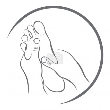 Illustration for Foot Massage - Royalty Free Image