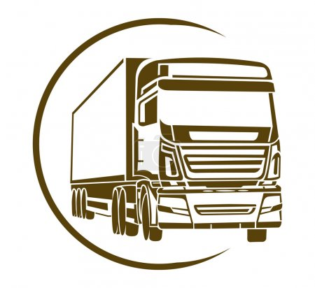 Illustration pour Symbole de camion - image libre de droit