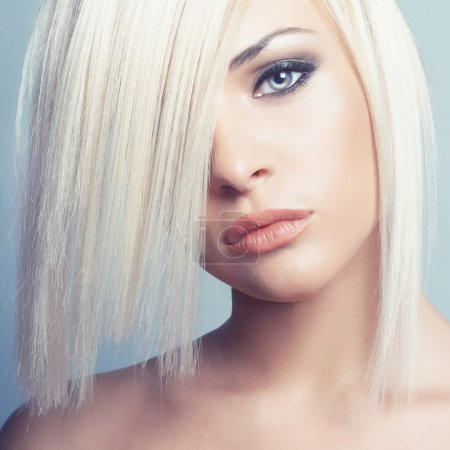Photo for Fashion photo of beautiful sexy blonde with short haircut - Royalty Free Image