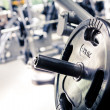 Diverse equipment and machines at the gym room...