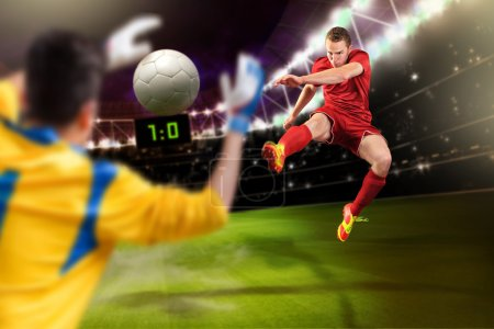 Photo for Male soccer or football player on the field - Royalty Free Image