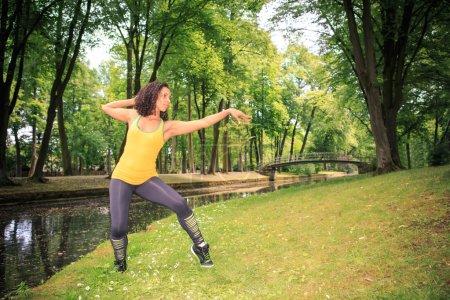 Woman fitness dance