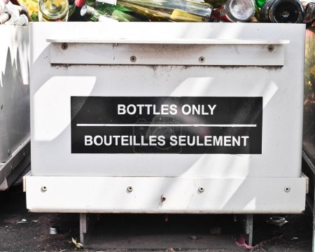 Photo for A bottle recycling bin at a waste site - Royalty Free Image