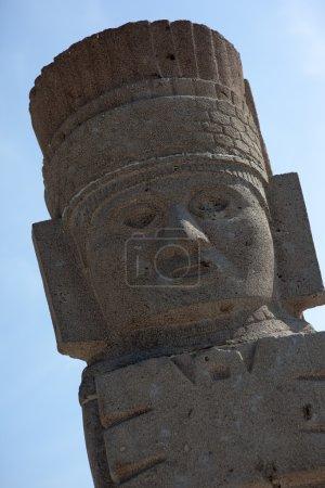 Toltec warriors. Detail. Ancient ruins of Tula de Allende