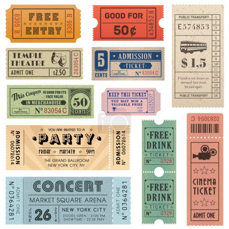 Grunge Vector Tickets Collection 2