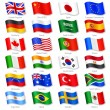 Vector Collection of 24 Top World Countries Nation...
