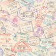 A seamless texture composed by passport stamps ill...
