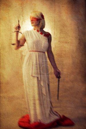 Femida styled photo as a painting on canvas