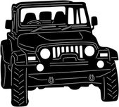 Illustration of 4x4 truck Silhouette