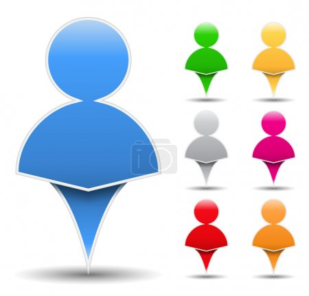 Illustration for Icon of an abstract human, vector eps10 illustration - Royalty Free Image