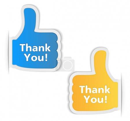 Illustration for Thank You Labels, vector eps10 illustration - Royalty Free Image