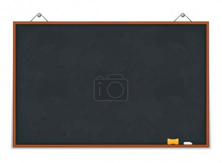 Illustration for Big horizontal green blackboard, vector eps10 illustration - Royalty Free Image
