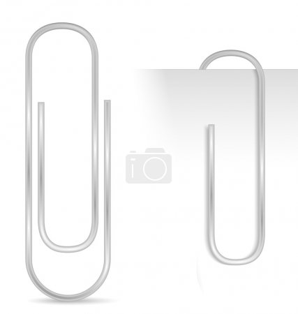 Illustration for Paper clip, vector eps10 illustration - Royalty Free Image