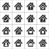Icons with house