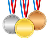 Medals with ribbons vector eps10 illustration