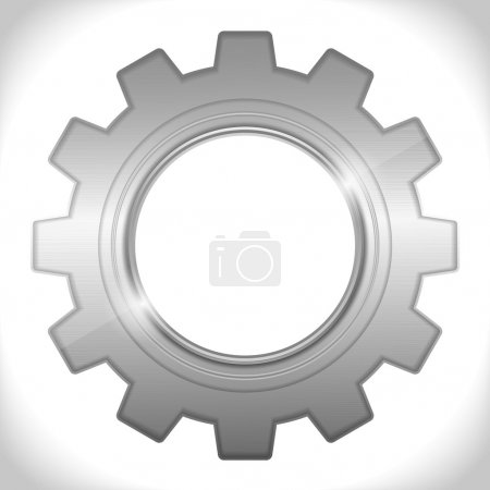 Illustration for Icon of a gear, vector eps10 illustration - Royalty Free Image