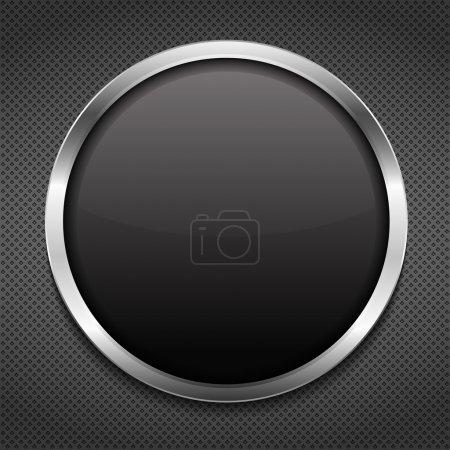 Illustration for Round frame on metal background, vector eps10 illustration - Royalty Free Image
