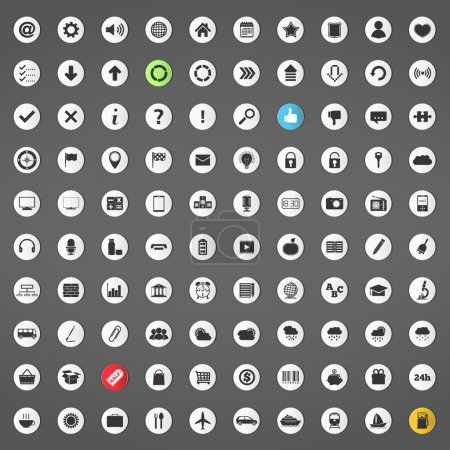 100 icônes différentes