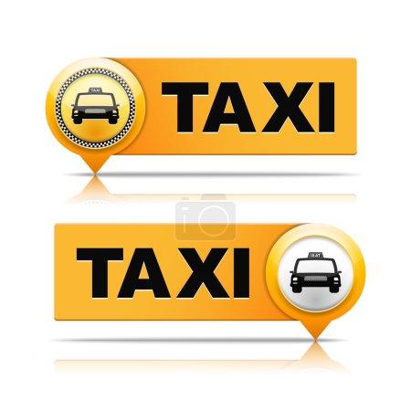Illustration pour Deux bannières de taxi, illustration vectorielle eps10 - image libre de droit