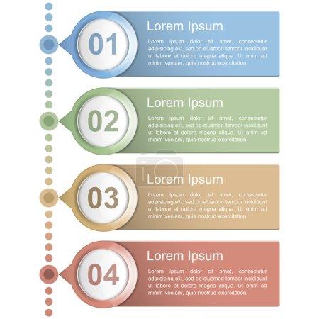 Illustration for Timeline design template, vector eps10 illustration - Royalty Free Image