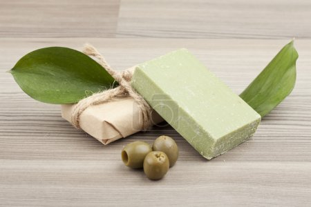 Photo for Natural handmade olive oil soap - Royalty Free Image