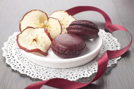 Photo for Claret macaroons - Royalty Free Image