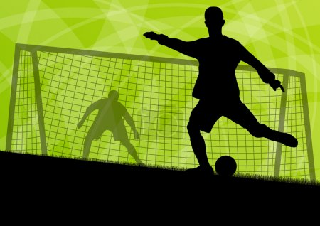 Soccer football players active sport silhouettes vector abstract