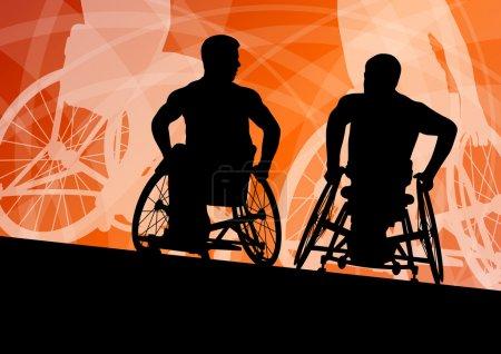 actif désactivé jeunes hommes sur un concept de détail sport en fauteuil roulant