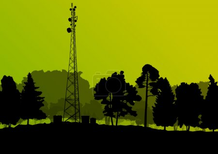 Telecommunications mobile phone base station radio tower with en