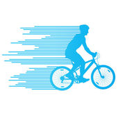 Cyclist vector background concept made of stripes