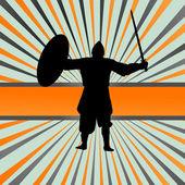 Medieval knight warrior vector background