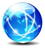 Asia and Australia Global Communication Planet