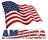 Americká vlajka s Amerikou