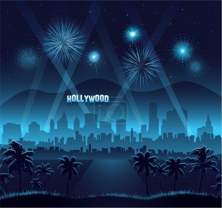 Hollywood movie premiere background celebration