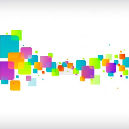 Illustration for Abstract colorful funky square background - Royalty Free Image
