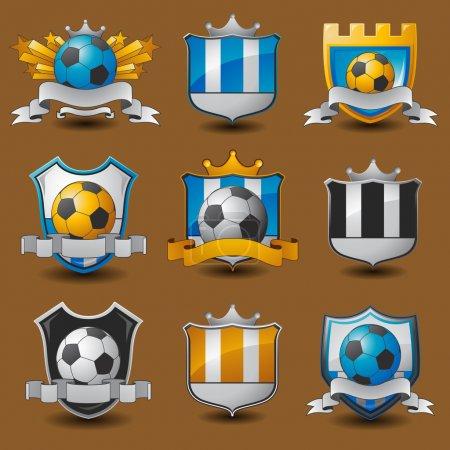 Soccer team emblems