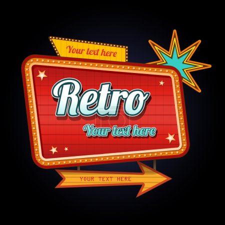 Illustration for Retro motel sign with copyspace eps 10 transparency effects - Royalty Free Image