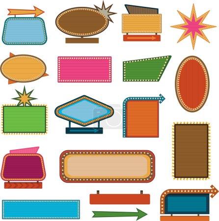 Illustration pour Signes vintage rétro et vente étiquettes eps 10 - image libre de droit