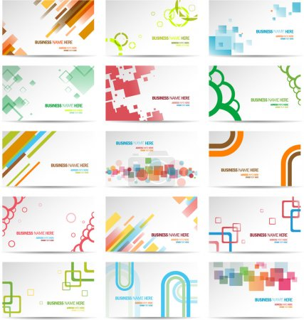 Photo for Modern Business Card Set eps 10 - Royalty Free Image