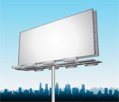 Vector highway ad billboard roadside