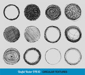 Hand drawn vintage circular textures