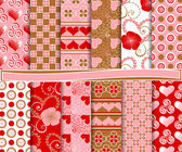 Abstract vector set of paper Valentine's Day