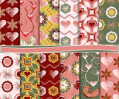 Abstract vector set of paper for scrapbook Valentine